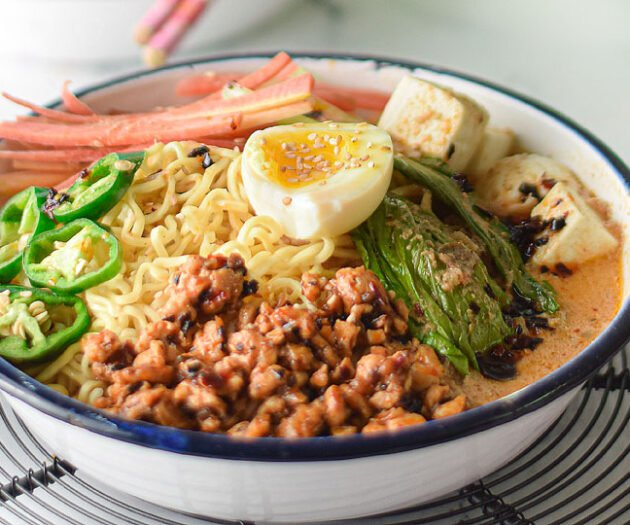 Food blogger, Bella Bucchiotti of xoxoBella, shares a recipe for spicy tahini miso ramen. If you are looking for a spicy tahini recipe, check out this ramen recipe with chicken and tofu.
