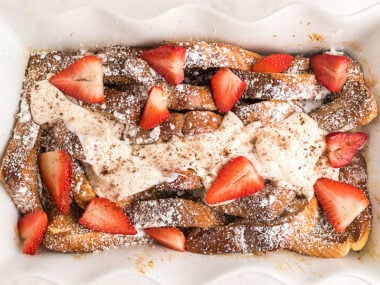 Food blogger, Bella Bucchiotti of xoxoBella, share a recipe for tiramisu French toast casserole made with Texas toast. You will love this weekend breakfast recipe!