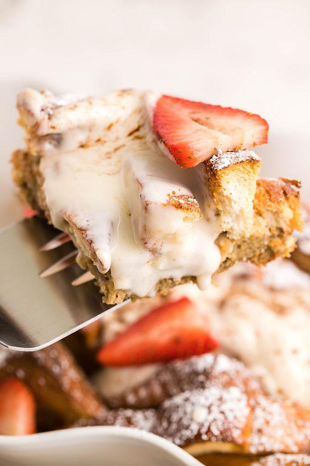 Food blogger, Bella Bucchiotti of xoxoBella, share a recipe for tiramisu French toast casserole made with Texas toast. You will love this baked French toast.