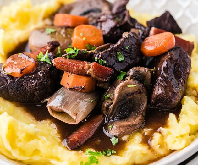 Food blogger, Bella Bucchiotti of xoxoBella, shares a version of Julia Child's boeuf bourguignon. This flavourful beef recipe is a great alternative to a beef stew recipe.