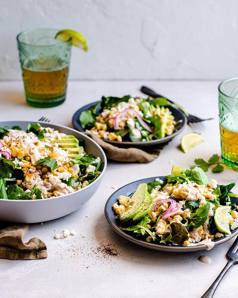 Food blogger, Bella Bucchiotti of xoxoBella, shares a recipe for street corn kale salad. If you are looking for a Mexican inspired kale salad recipe, try it!