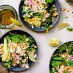 Food blogger, Bella Bucchiotti of xoxoBella, shares a recipe for street corn kale salad. The kale salad recipe has Mexican elote and spicy yogurt lime dressing.