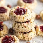 Food blogger, Bella Bucchiotti of xoxoBella, shares a recipe for raspberry hazelnut thumbprint cookies with jam. You will love these classic thumbprint cookies.
