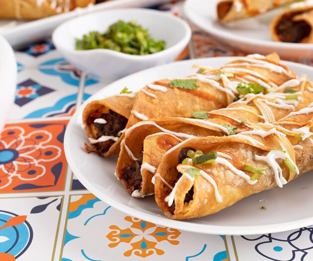 Food blogger, Bella Bucchiotti of xoxoBella, shares an easy air fryer gluten free beef taquitos recipe. It is perfect for a gluten free Mexican dinner.