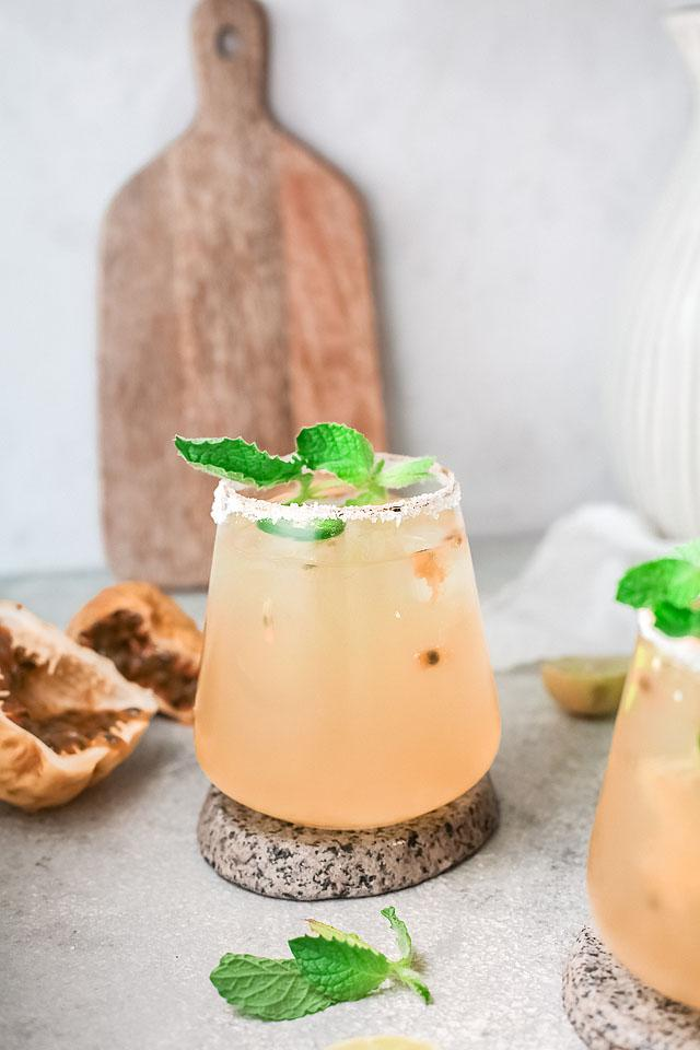 Food blogger, Bella Bucchiotti of xoxoBella, shares a passion fruit lime margarita recipe. You will love this fresh fruit margarita.