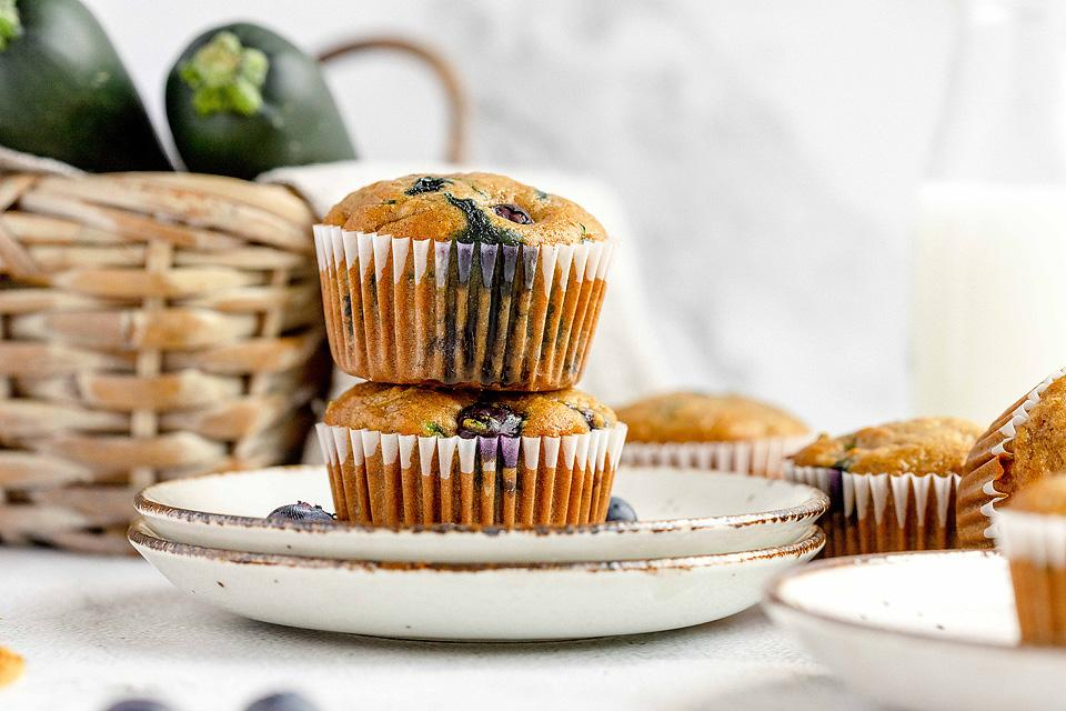 Food blogger, Bella Bucchiotti of xoxoBella, shares a recipe for tasty blueberry zucchini muffins. You will love these healthy blueberry muffins.