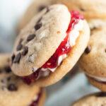 Food blogger, Bella Bucchiotti of xoxoBella, shares a recipe for raspberry chocolate chip buttercream jam sandwich cookies. These are the best sandwich cookies with jam.