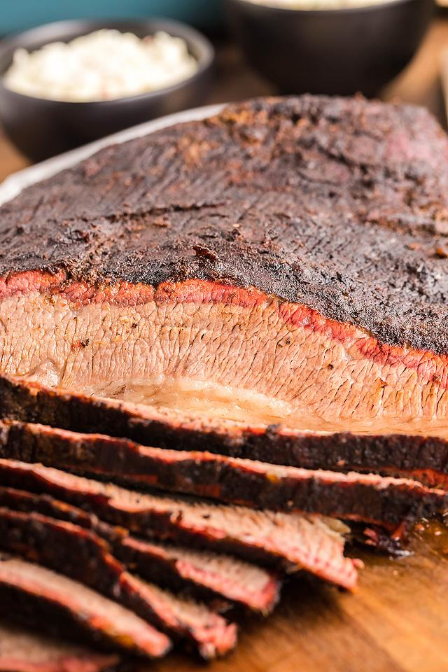 Food blogger, Bella Bucchiotti of xoxoBella, shares a smoked dry rub brisket made in a Traeger grill or a pellet grill. You will love this great dry rub for brisket.
