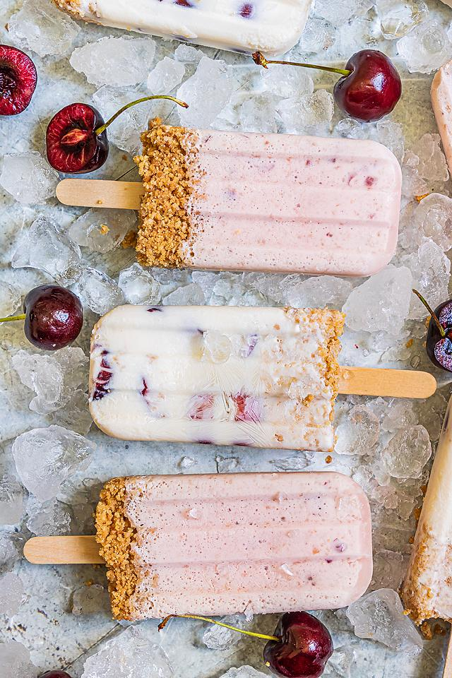 Food blogger, Bella Bucchiotti of xoxoBella, shares a recipe for cherry cheesecake popsicles. You will love this creamy popsicle recipe.