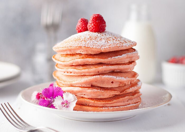 Food blogger, Bella Bucchiotti of xoxoBella, shares some fluffy pink pancakes. You will love this beetroot pancake recipe.