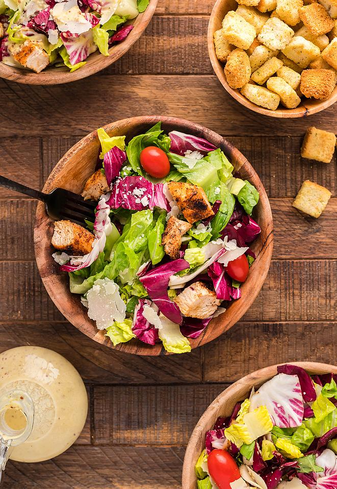 Food blogger, Bella Bucchiotti of xoxoBella, shares a radicchio endive chicken salad with creamy honey mustard dressing. You will love this unique summer BBQ salad.