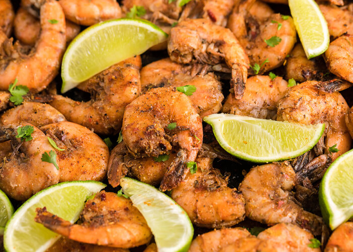 Food blogger, Bella Bucchiotti of xoxoBella, shares a recipe for smoked Caribbean jerk spiced shrimp. You can make this BBQ shrimp on a Traeger grill or other pellet grill easily.