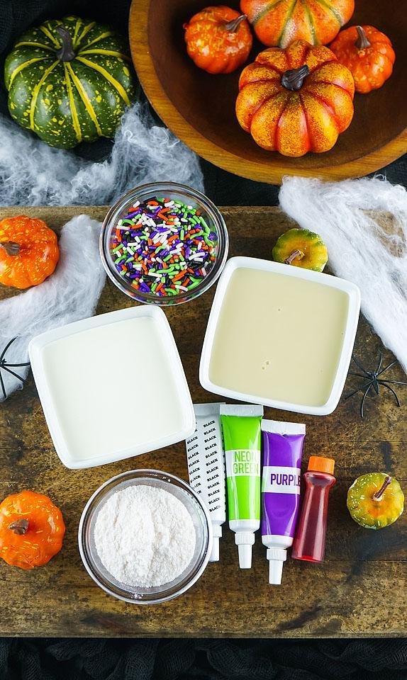 Food blogger, Bella Bucchiotti of xoxoBella, shares a colourful no churn Halloween ice cream recipe. You will love these frozen Halloween treats.