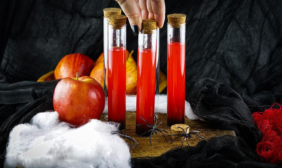 Food blogger, Bella Bucchiotti of xoxoBella shares a recipe for a Halloween vial shooter. You will love these make ahead shots in a vial or syringe.