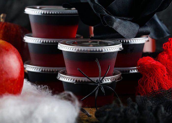 Food blogger, Bella Bucchiotti of xoxoBella, shares some jello shots for Halloween which is great for all your Halloween party ideas. You will love this halloween fireball shooter.