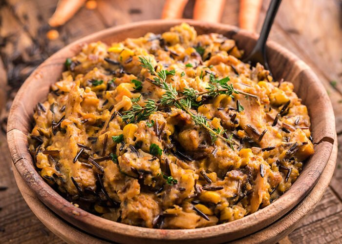 Food blogger, Bella Bucchiotti of xoxoBella, shares a recipe for instant pot leftover turkey wild rice casserole. It is perfect for Thanksgiving or Christmas leftovers.